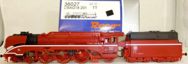Roco 36027 Dampflokomotive BR 18 201  ROT NEU OVP TT 1:120 HL4 µ*