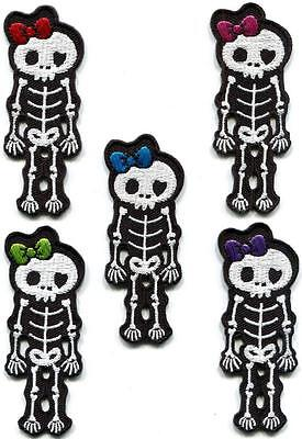 X-ray skeleton skull goth punk horror applique iron-on patch your choice SK-2