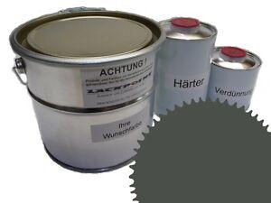 1,5 Liter Set 2K Floor Color Floor Ral 7010 Vinyl-Epoxid-Lack Lackpoint Shine