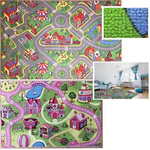 Details zu Kinderteppich Spielteppich Straßenteppich Kinderzimmer Jungen  Mädchen Teppich