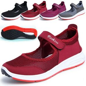Womens-Ladies-Flat-Antiskid-Breathable-Beach-Sandals-Slip-on-Trainers-Shoes-2019