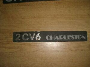 Emblem-Badge-Citroen-2-CV6-Charleston-aus-Metall-ca-240-x-30-mm