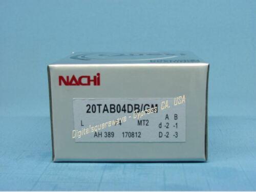 NACHI 20TAB04DB//GMP4 Abec-7 Super Precision Ball Screw Bearings Set of Two