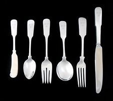 GORHAM STERLING SILVER Old English Tipt 12 complete settings 72 pieces Flatware