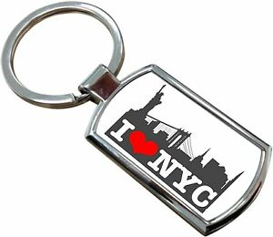 Image Is Loading I Love New York City America Rectangle Keyring