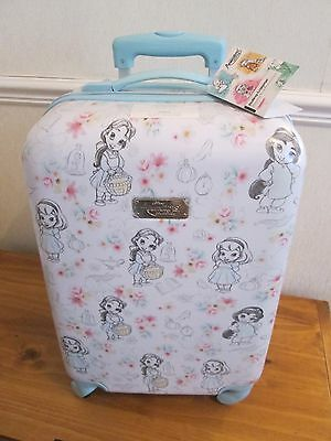 RARE DISNEY PRINCESS ANIMATORS COLLECTION SUITCASE CABIN LUGGAGE TRAVEL CASE NWT