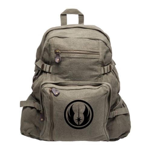Jedi Order Logo Army Sport Heavyweight Canvas Backpack Bag