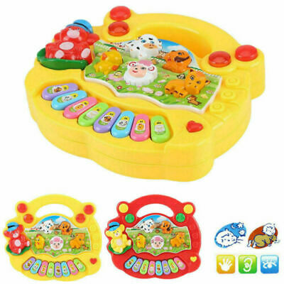 2019 Musical Kid Piano Play Baby Animal Educational Toy Learn Color/&Sound Gifts