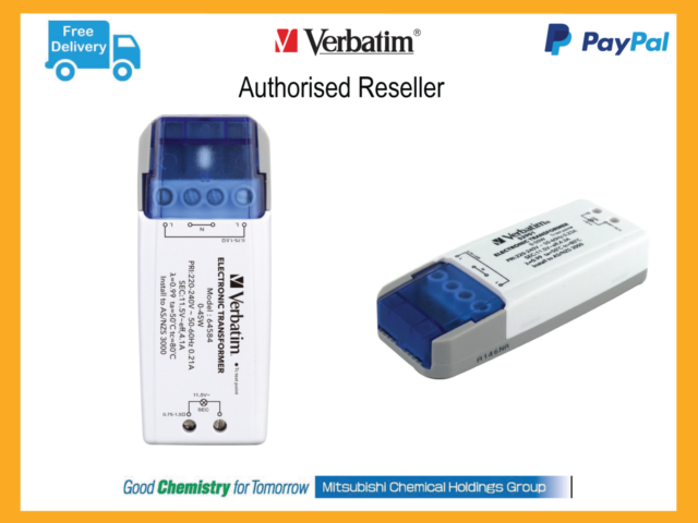 ($0 p&h) Verbatim LED AC Electronic Transformer Driver 12V 50W MR16 Light 52901