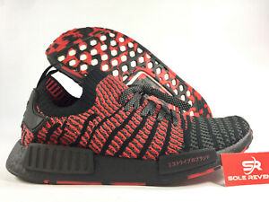 official photos 844c5 82787 Details about NEW adidas NMD_R1 STLT PRIMEKNIT JAPAN D96817 PK BOOST  Collegiate Red Black j1