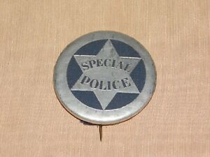 """VINTAGE 1 3/4"""" ACROSS SPECIAL POLICE PINBACK PIN"""