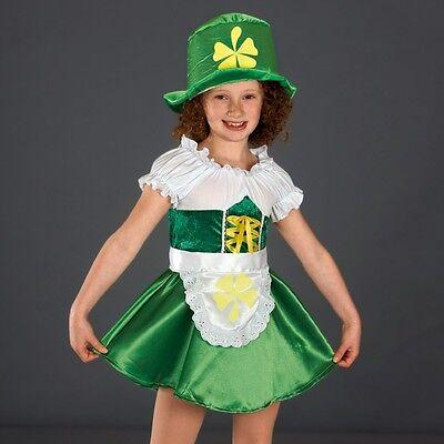 Green Leprechaun Outfit - Irish Fancy Dress - Dance Costume