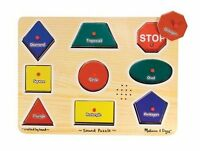 Melissa And Doug Shapes Sound Puzzle , New, Free Shipping on sale