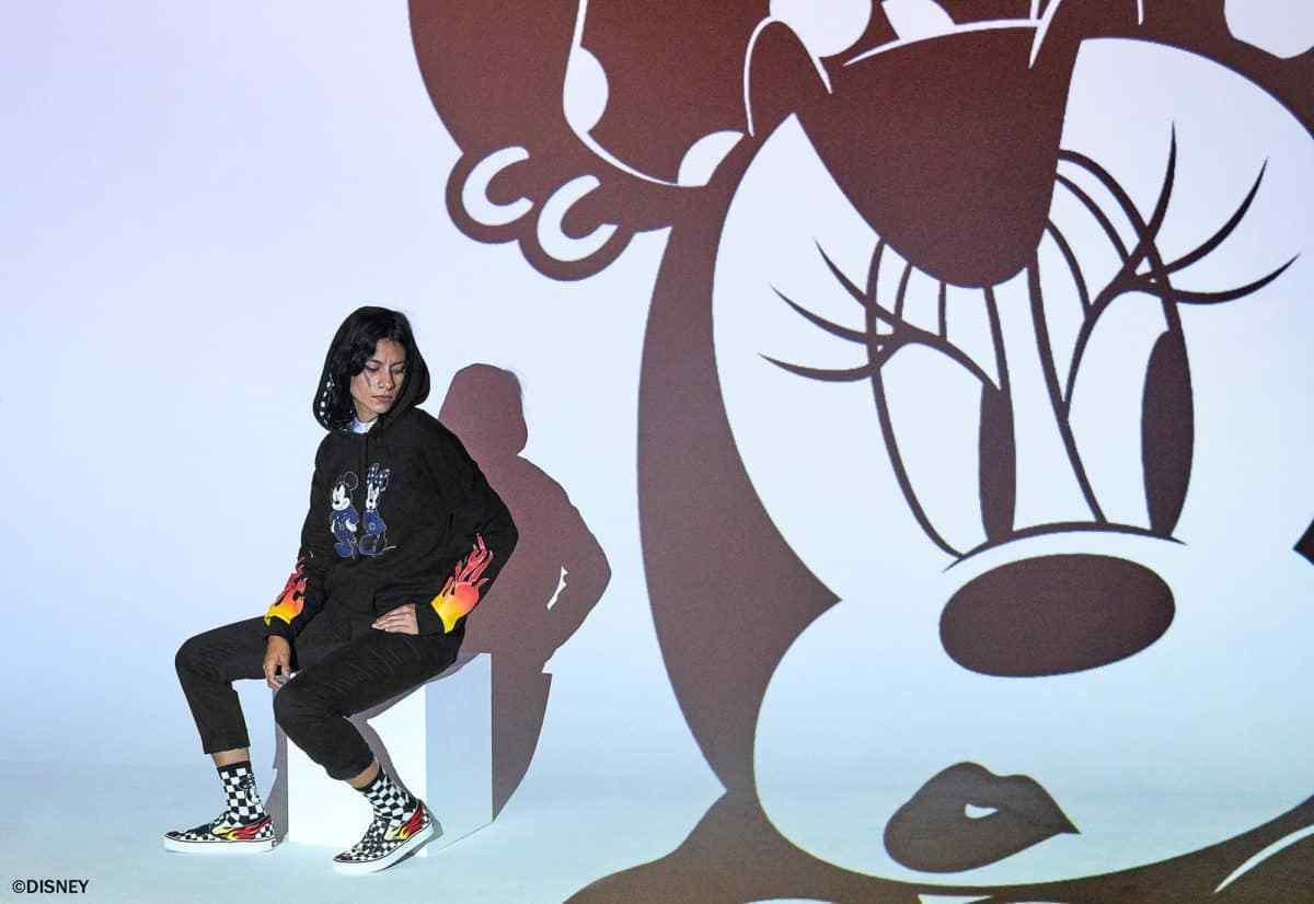 NIB Vans Limited 90th Anniv Disney Mickey & Minnie VN0A38F7UJ4 Check Slip On VN0A38F7UJ4 Minnie ceb6a3