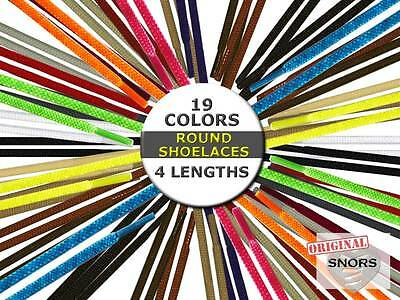 SHOELACES ROUND LACES - 19 Colors - 4 Lengths - Replacement shoelaces
