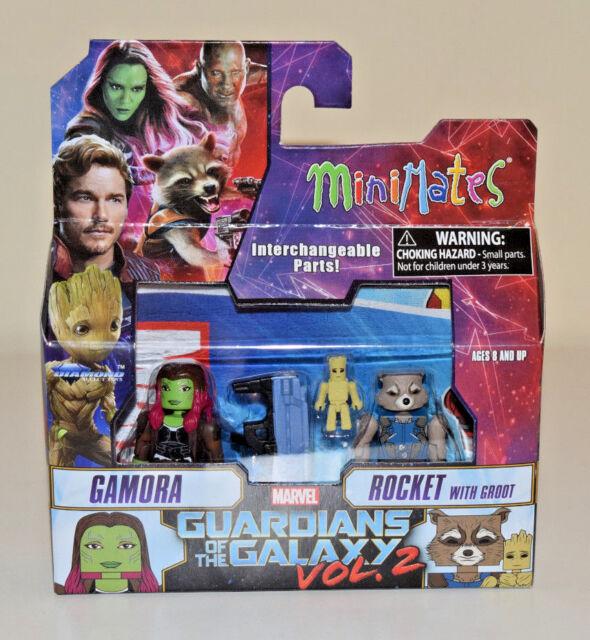 Minimates Series 71 Wave 1 Guardians of the Galaxy 2 Gamora Rocket Groot 2 Pack