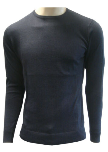 Mens Jumper Cotton//Wool Mix Crew Neck Jumper//Sweater Free Delivery