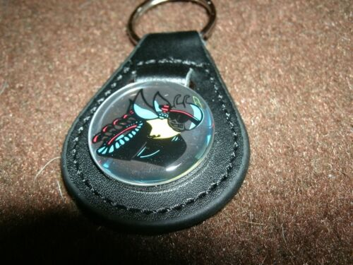 DODGE CHALLENGER CHARGER CORONET SUPER BEE DART SCAT PACK LEATHER KEYCHAIN NEW