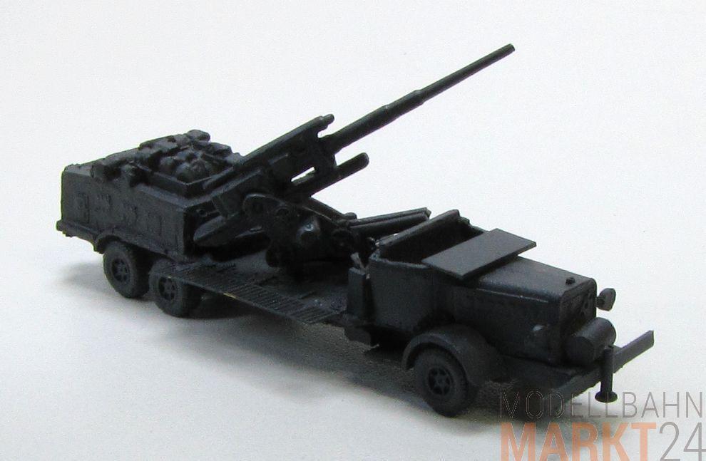 8,8 cm camion artillerie 2. Guerre Mondiale Allemand militaire stand modèle échelle 1 160