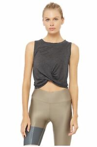 ALO-Yoga-Cover-Tank-Crop-Top-Anthracite-Heather-gray-Small