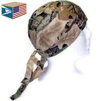 Skull Cap Hat Real Tree Camo Camouflage Hunting Du Do Doo Rag Wholesale Sale