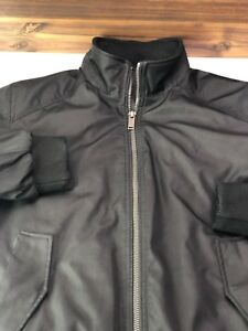 Calvin-Klein-Mens-Jacket-Full-Zip-Coat-Black-Size-S