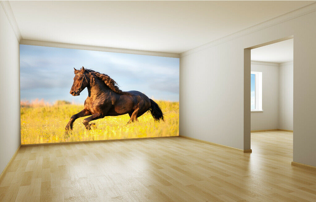 3D Horse Lawn 728 Wallpaper Mural Paper Wall Print Wallpaper Murals UK Lemon