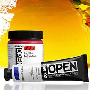 Golden-Artists-Open-Slow-Dry-Acrylic-Paint-60ml-tubes-Various-colours