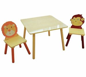 Animal-Safari-theme-JUNGLE-kids-Ensemble-table-et-chaise-Animaux-Salle-de-Jeu-Chambre-a-coucher