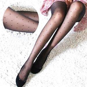 1Pair Women Sheer Lace Net Big Dot Pantyhose Stockings Tights Dots Shaping Socks