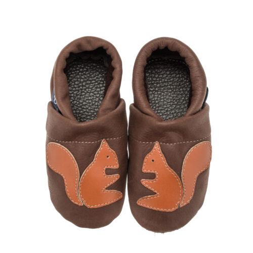 Babyschuhe Baby Krabbelschuhe Eichhörnchen Pantau Lederpuschen Lauflernschuhe