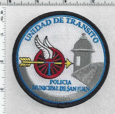 Policia Municipal De San Juan Puerto Rico Unidad De Transito 1st Issue Patch Ebay