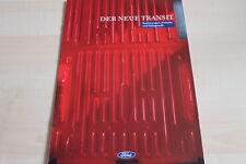 115445) Ford Transit - Kasten Pritsche Fahrgestell - Prospekt 02/1992