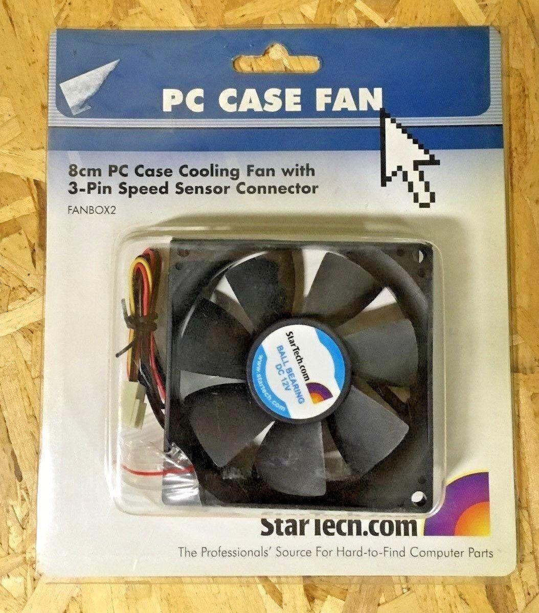 **BRAND NEW** Startech FanBox2 8cm PC Cooling fan w/ RPM Sensor 3-Lead Connector