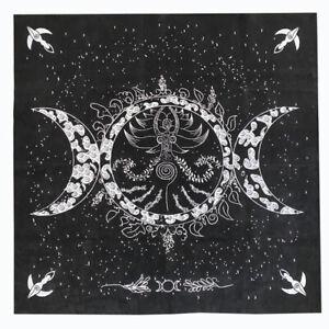 2021 New Triple Moon Pentagram Altar Tarot Cloth Divination Cards Velveteen