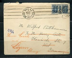 FRANCE-1931-COVER-TO-KIEL-GERMANY-REROUTED-TO-LUZERN-SWITZERLAND