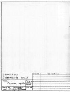 CRUMAR COMPAC SYNTH Service Manual Schematic Diagram Schaltplan Schema elettrico