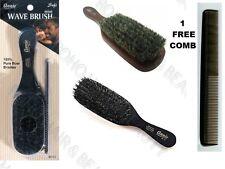 "ANNIE 100% PURE BOAR BRISTLE HAIR BRUSH 8 1/2"" SOFT WAVE BRUSH 2119  FREE COMB"