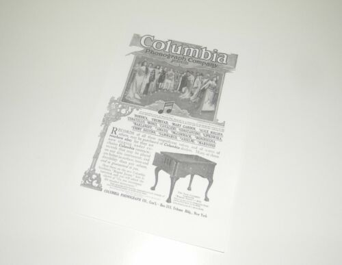 Columbia Grafonola Regent Phonograph Instruction Manual Reproduction Adverts