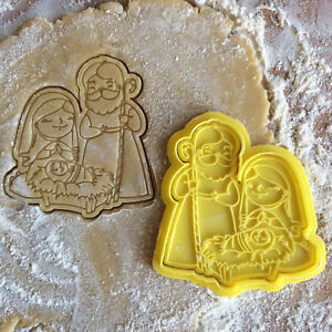 Details About Christmas Cookie Cutter Nativity Cookie Stamp Jesus Cookies