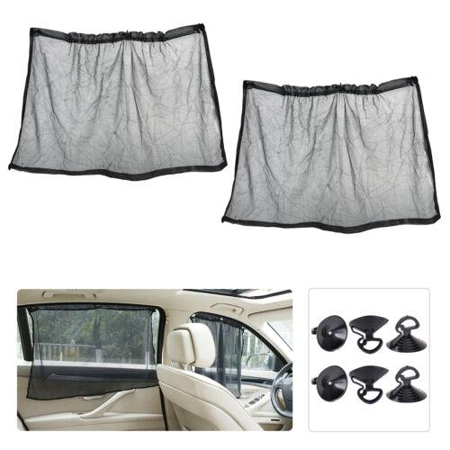 2x Auto-fenster 68x42cm Sonnenschutz Seitenfenster Sonnenblende Fenstervorhänge