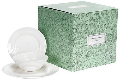 12 PC DINNER SET PORTMEIRION SOPHIE CONRAN WHITE - BNIB