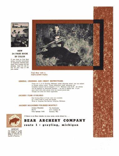 1953 Bear Archery Equipment Catalog #24A Reproduction