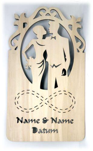 Cadeau de Mariage pour mariés personnalise I DEL Dekolicht Chambre Paire