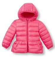 Le Top Baby Girls Tickle Me Pink Hooded Down Jacket Winter Coat