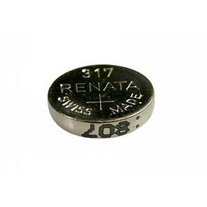 #317 (SR516SW) Renata Mercury Free Watch Batteries - Strip of 10