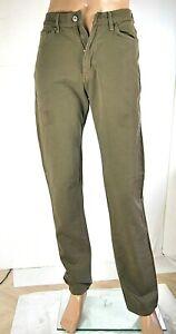 Jeans-Uomo-Pantaloni-CARRERA-SA584-Gamba-Dritta-Kaki-Marrone-Tg-46-veste-piccolo