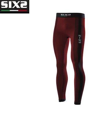 SIXS SIX2 PN2 UNDERWEAR PANTALONE LEGGINGS CON FONDELLO BLACK CARBON TAGLIA XL