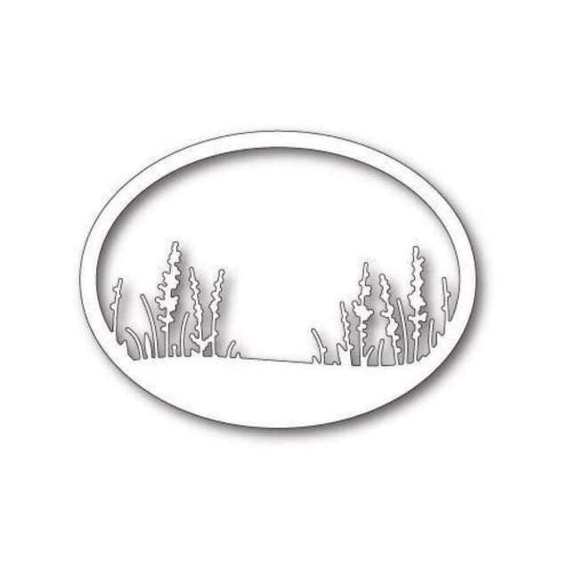 Memory Box - Wildflower Oval Frame
