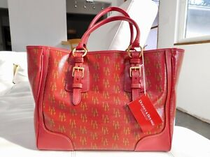 Authentic-New-RED-DOONEY-amp-BOURKE-LARGE-TAYLOR-SHOPPER-TOTE-BAG-268